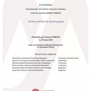 "François Dross recipient of an accessit to the PhD prize Graphes ""Charles Delorme"" 2019"