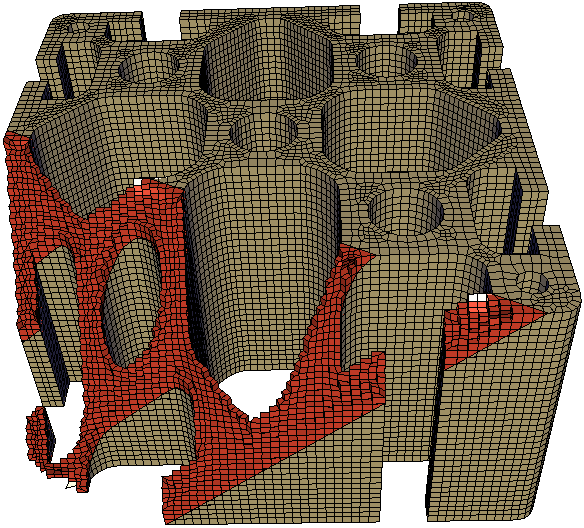 An hexahedral mesh