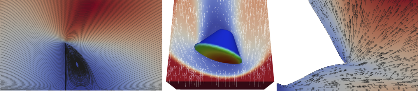 Rarefied gas flow simulations
