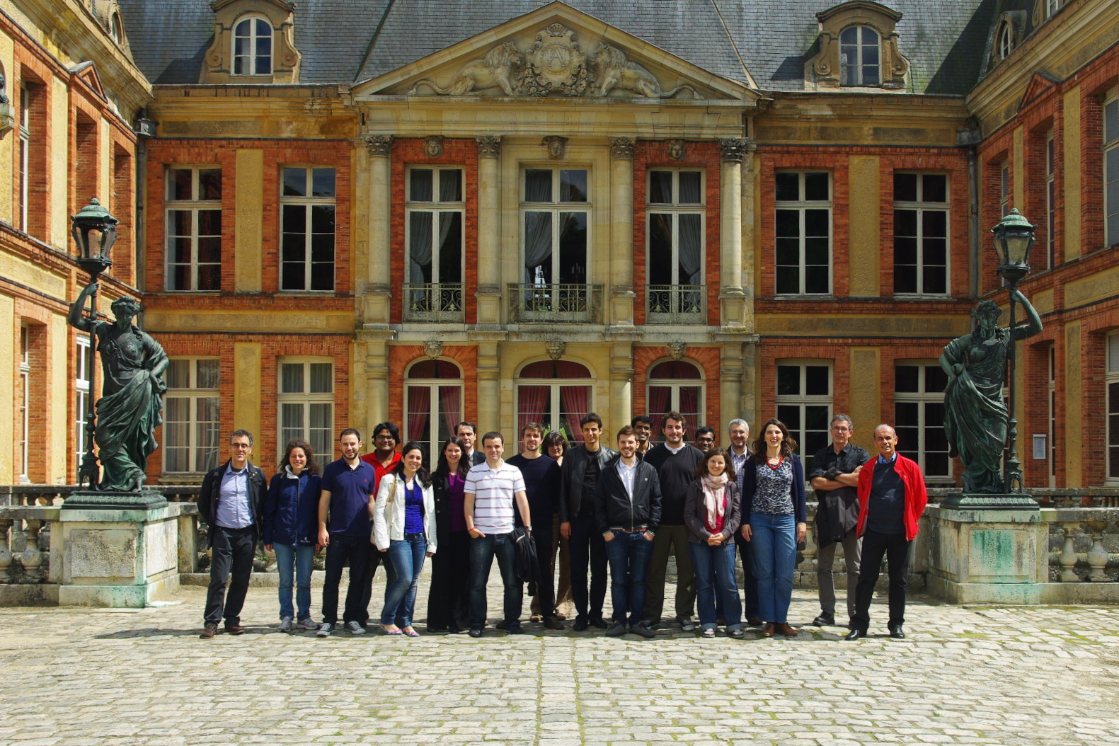 Team picture at Dampierre Castle,  June 22, 2012