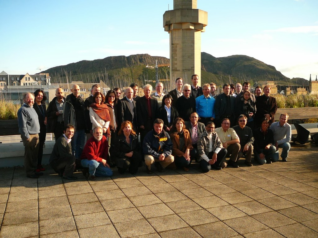 Participants at the Peter Buneman Forum in Edinburgh, October 2013