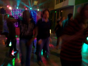 Dancing at the INRIA winter party