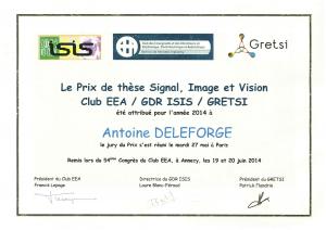 Antoine Deleforge PhD Award 2014