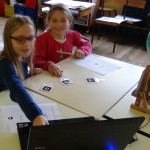 Photograph of kids using technology in the classroom