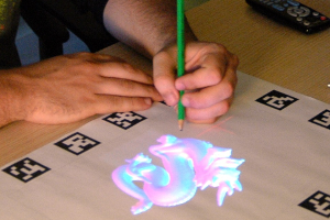 Spatial augmented reality and Tangible interaction