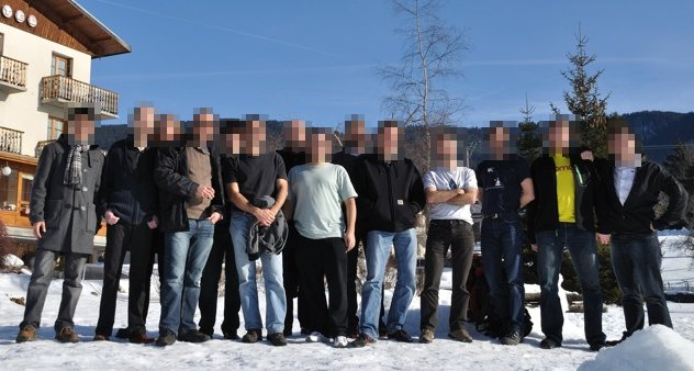 Privacy-preserving picture of the Privatics team in its natural habitat
