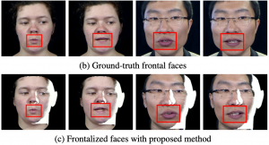 Robust Face Frontalization For Visual Speech Recognition